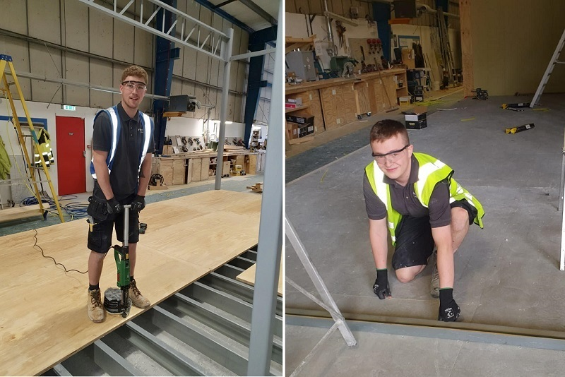 Callum Burden and Joe Moore secured full-time positions after completing their joinery training