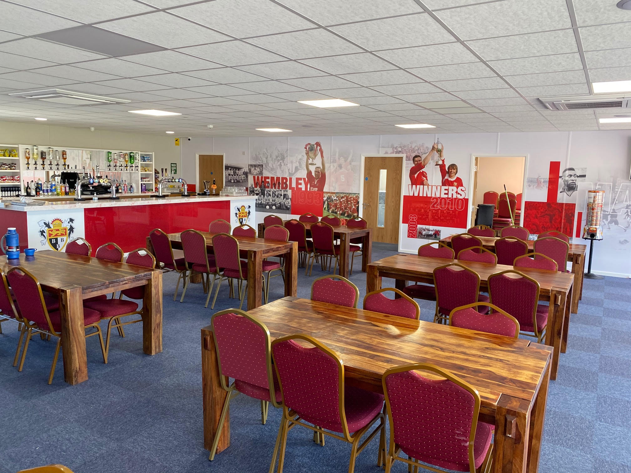 The Town Bar, within the Seasiders' new clubhouse, which was completed by new club sponsor, Integra Buildings, and has proven to be a big hit with supporters and the public since opening last month.