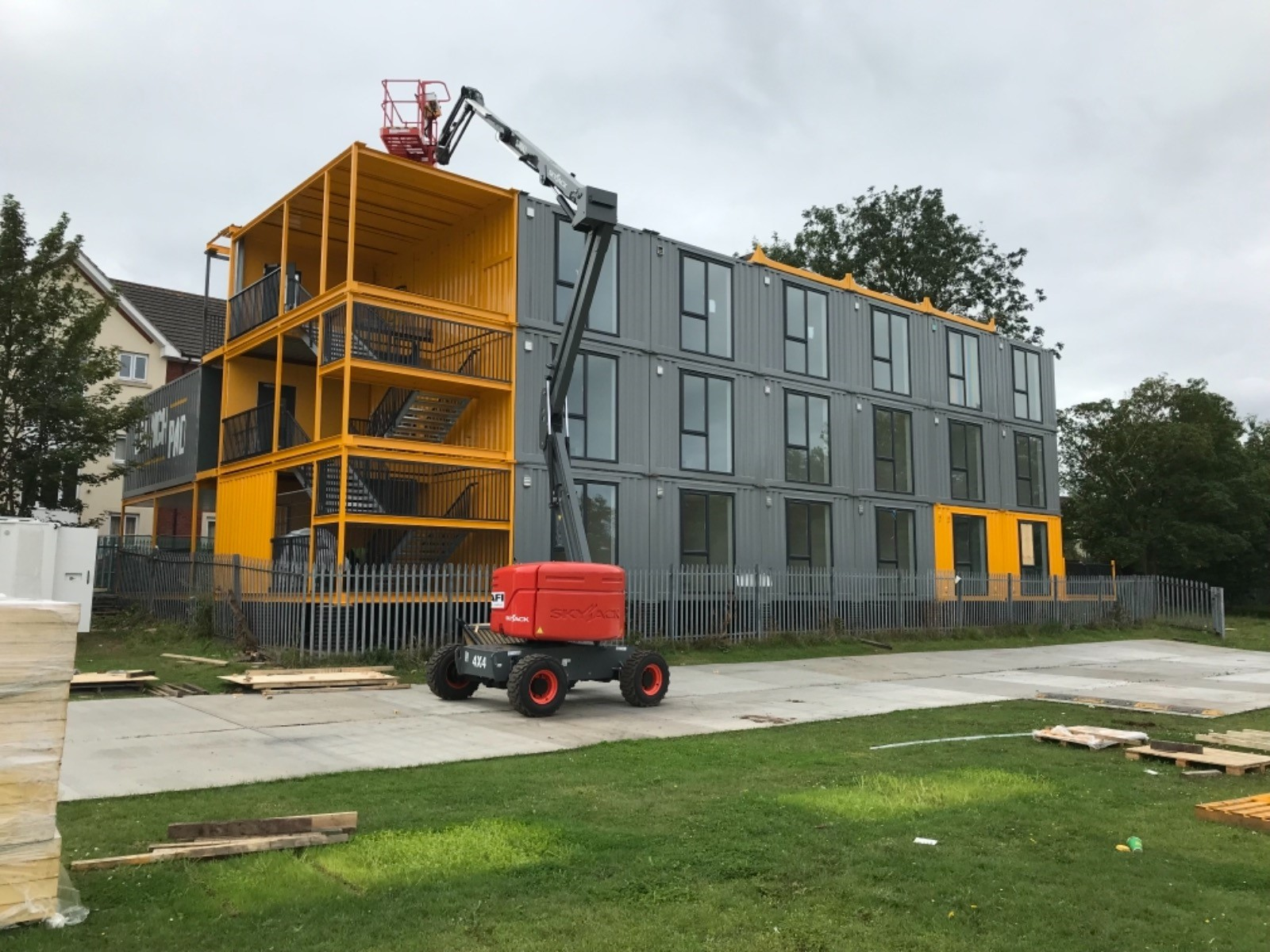 The apartment units built by Integra in East Yorkshire have been assembled in Bristol to form the Launchpad modular housing community designed to help address a growing housing crisis in the city.