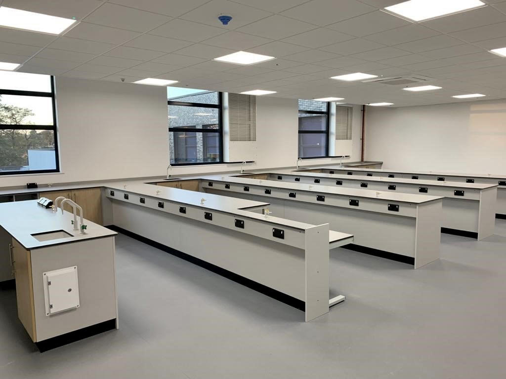 The rooftop extension at Trinity School, Sevenoaks, houses four new science labs.
